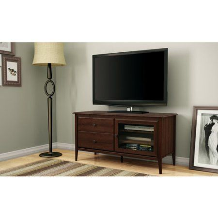 South Shore Crescendo Sumptuous Cherry TV Stand for TVs up to 50 inch, Red