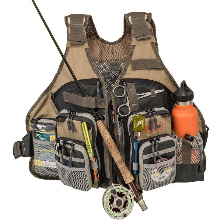 It is amazing how much a good vest helps keep you organized on the water.