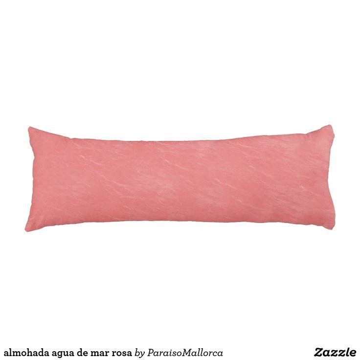 almohada agua de mar rosa