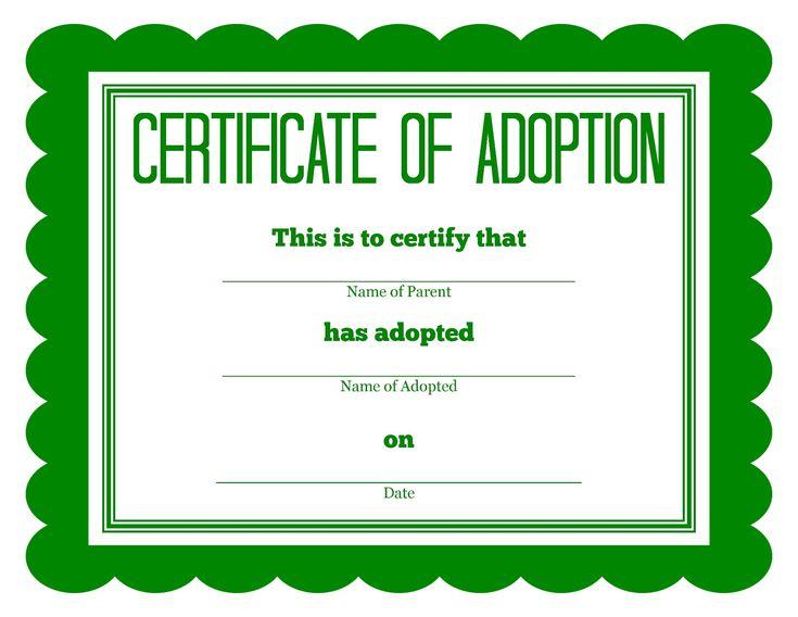 FREE Printable Stuffed Animal Adoption Certificates…