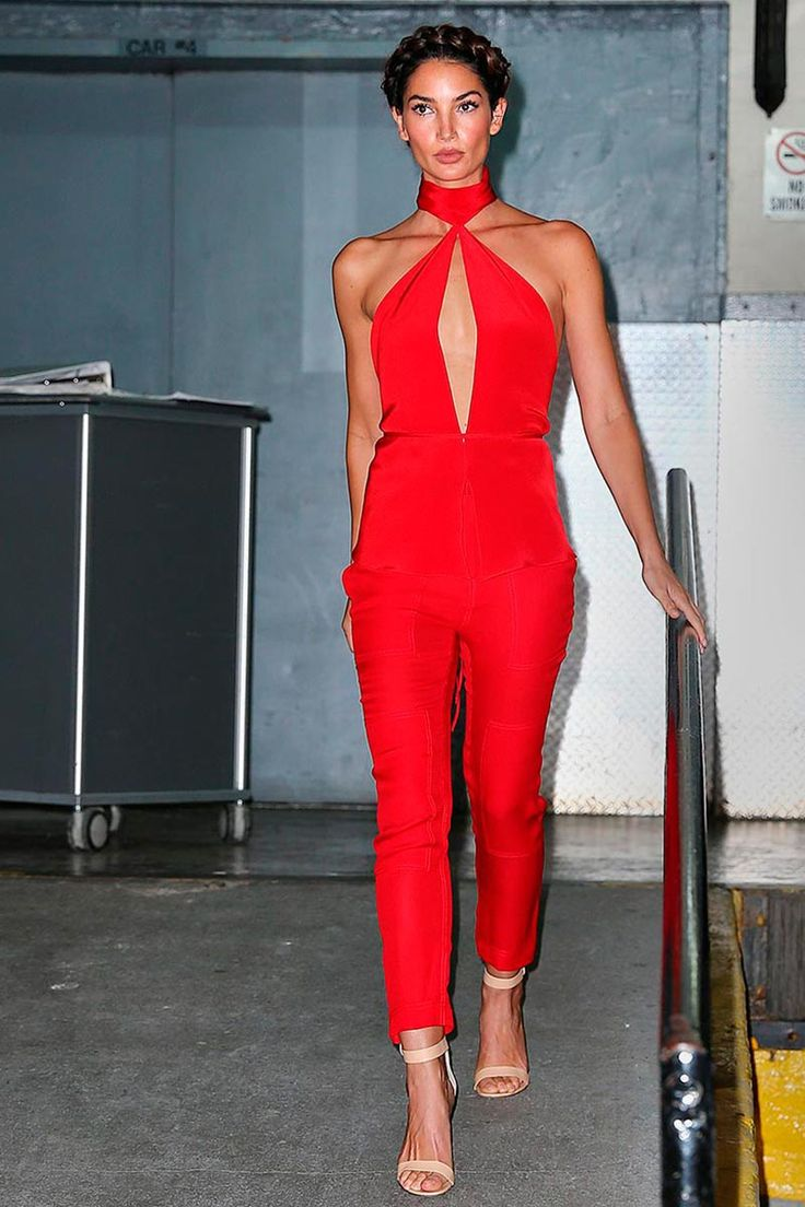 Red Jumpsuit Outfit - Breeze Clothing