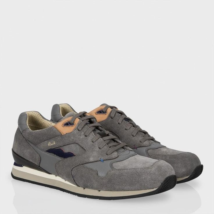 Paul Smith Shoes - Grey Suede Aesop Sneakers