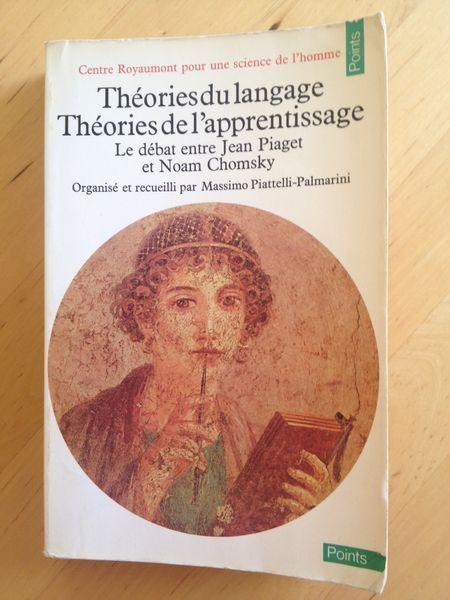 """#langage : Théories Du Langage. Théories de l'apprentissage / Piaget - Chomsky.  Du 10 au 13 octobre 1975, les participants à ce débat se réunirent à l'abbaye de Royaumont, autour de Jean Piaget et de Noam Chomsky. Ce livre offre un témoignage hors du commun : il est issu de la seule rencontre personnelle qui ait jamais eu lieu entre le fondateur de l'épistémologie génétique et celui de la linguistique générative, c'est-à-dire de deux systèmes conceptuels, voire deux """" philosophies """", ..."""