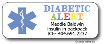 Medical Waterproof Label Diabetic