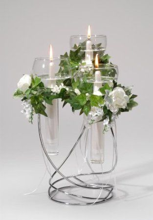 50 best modern diy centerpieces images on pinterest weddings wedding candelabra centerpiece with floating candles junglespirit Gallery