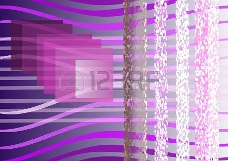 Composition on violet background, transparent lines , squares, light, shadow  Stock Photo - 21454588