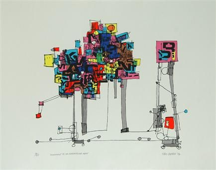 Monument to an Advertising Man, 1974, Handmade screenprint (ed of 25), 590mm x 490mm