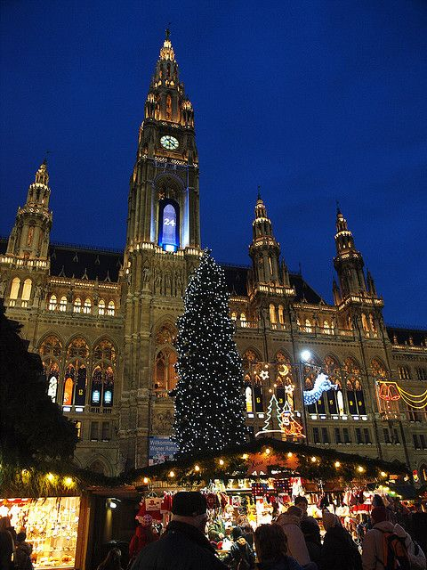 Vienna's Christmas Market, Austria. Absolutely one of my favorite travel destinations. Waiting for Christmas again :) It's even not far away from my hometown.