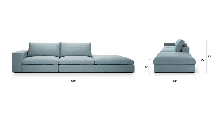 Best Cube Glacier Blue Modular Sofa Sectionals Bryght 400 x 300