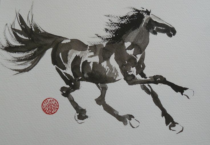 chinese painting of fighting horse - Google Search