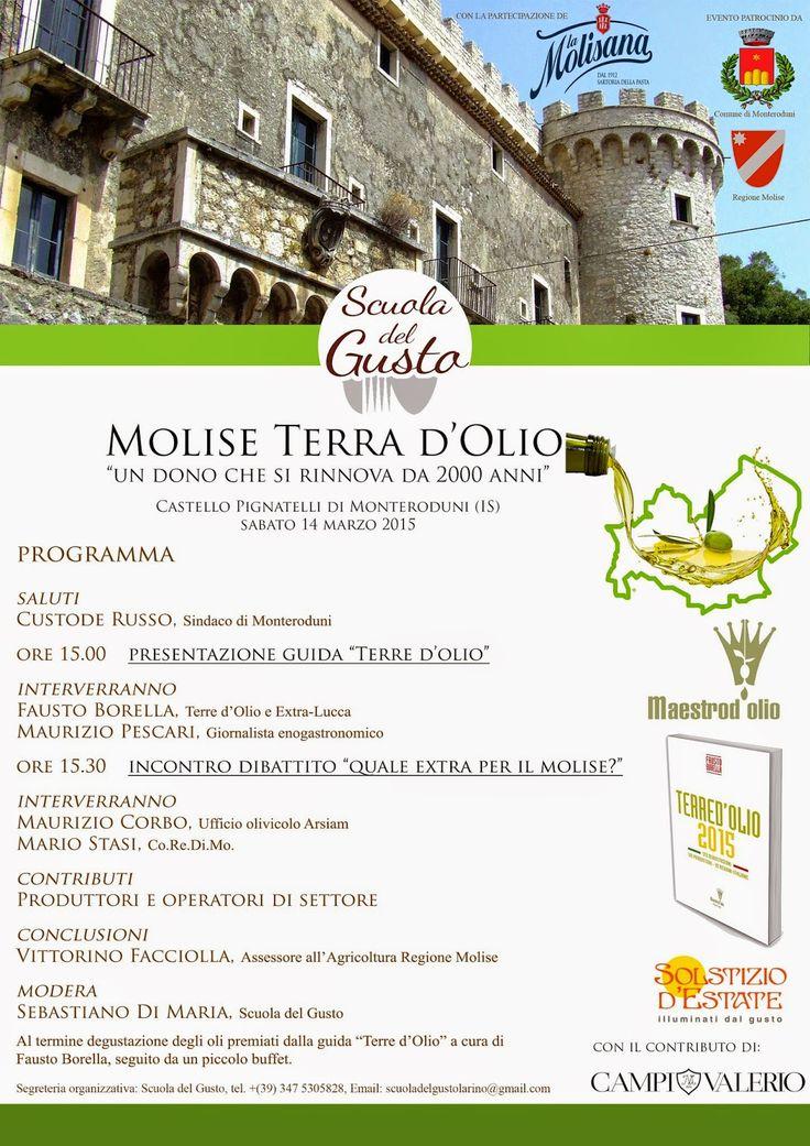 """Mondo dell'olio e istituzioni; dialogo aperto presso il Castello Pignatelli di Monteroduni, con """"Molise terra d'olio""""."""