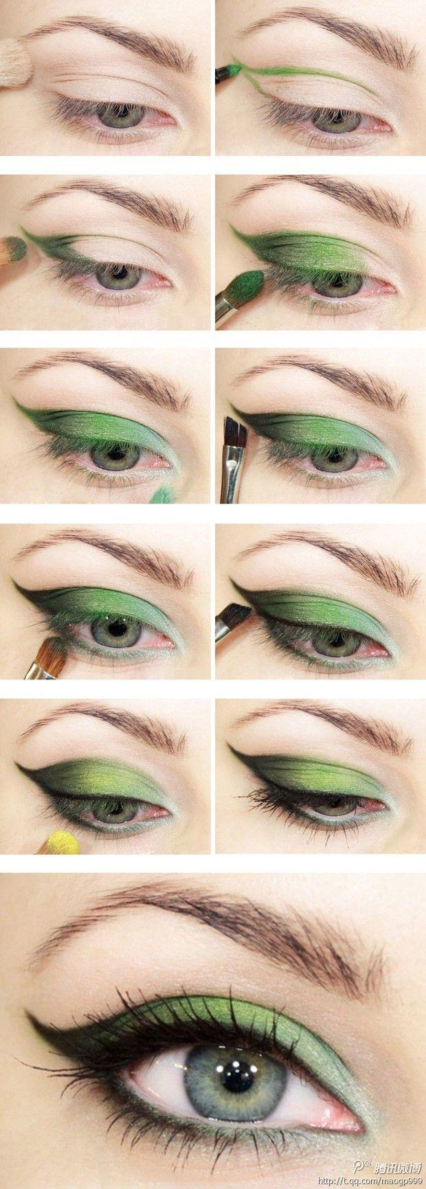 Creëer deze kleurrijke maar sensuele oogopslag met deze #eye #make-up #howto
