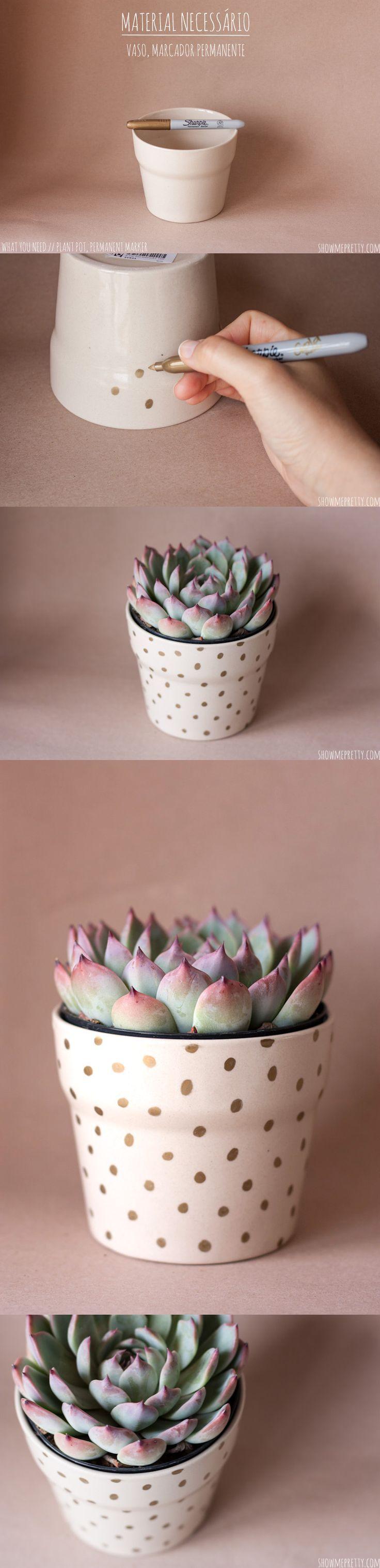 DIY: polka dot pot