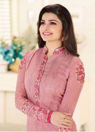 Prachi Desai Enchanting Pink Designer Straight Salwar Suit