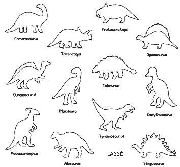 Dinosaurier, 12 Schablonen