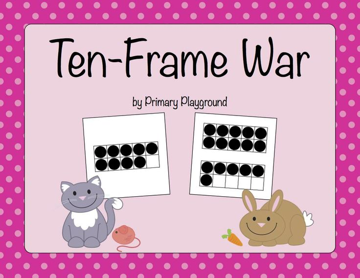 A twist on the classic war game using ten frames to 20 - FREEBIE!