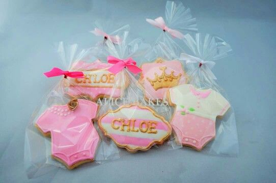 Chloe's 1st birthday pink and gold theme cookies