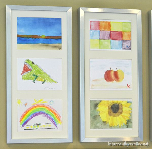 How to resize your kids artwork to fit in frames.