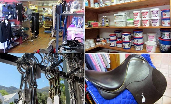 Noordhoek Village Tack carries saddles, bridles, bits, spurs, as well as a range of equestrian clothing from breeches to helmets to boots