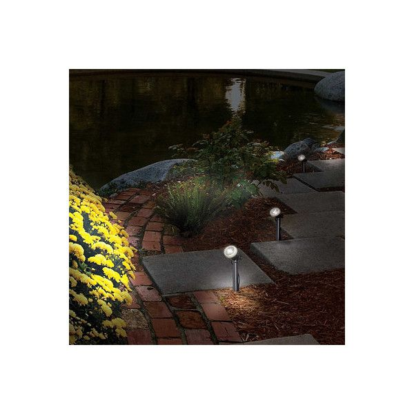 Solar Garden Spotlight ($80) ❤ Liked On Polyvore Featuring Home, Outdoors,  Outdoor