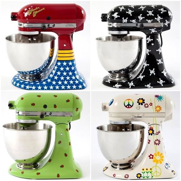 Wonder Woman KitchenAid mixer? YES!  The decal & airbrush designs are ENDLESS!