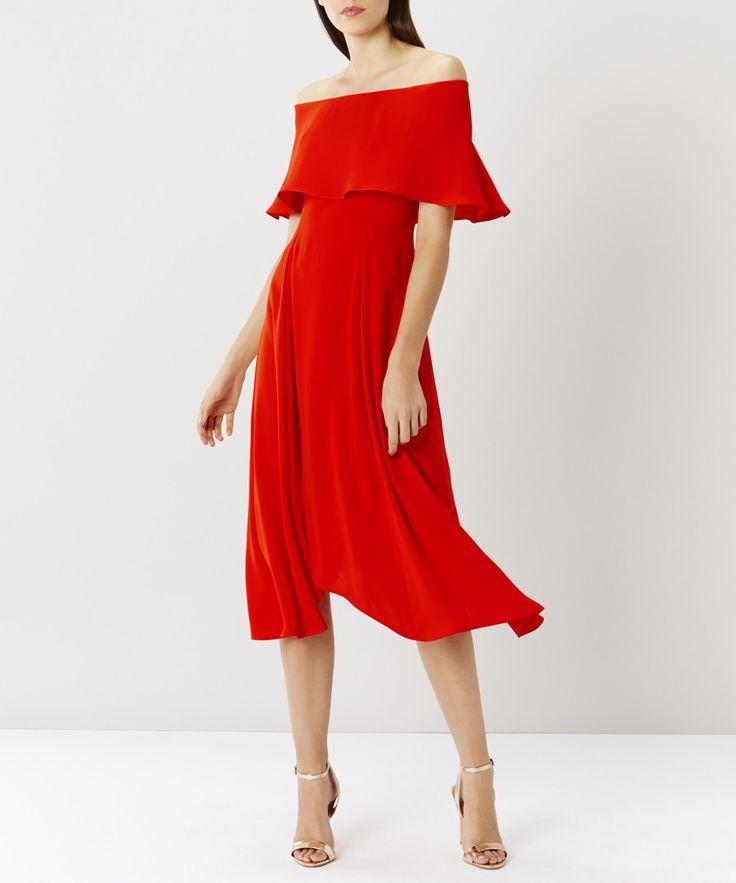 Brooke red bardot dress Sale - Coast