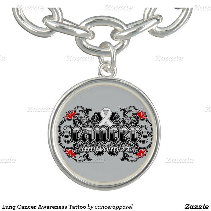 Lung Cancer Awareness Tattoo Bracelets