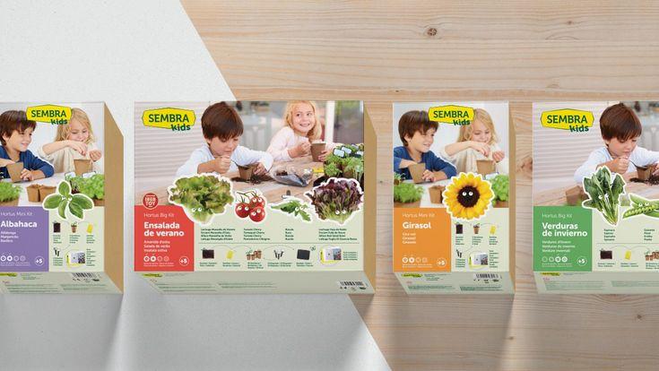 SEMBRA KIDS - Nomon Design. Diseño de la identidad corporativa, creación de nuevas referencias, concepto y arquitectura de gama y diseño del packaging Sembra Kids. #identidad #diseño #packaging #kids #huerto #juguetes #producto