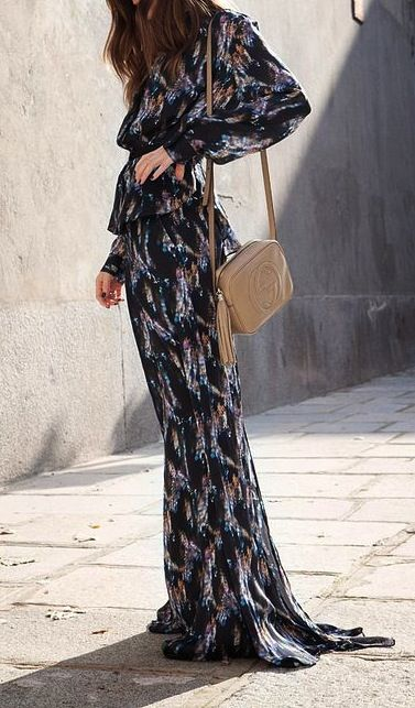 70's style maxi dresses.
