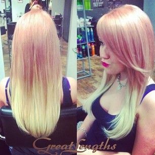 67 best transformations with great lengths images on pinterest pastel pink to blonde ombre dip dye hair colour created with great lengths hair extensions pmusecretfo Choice Image