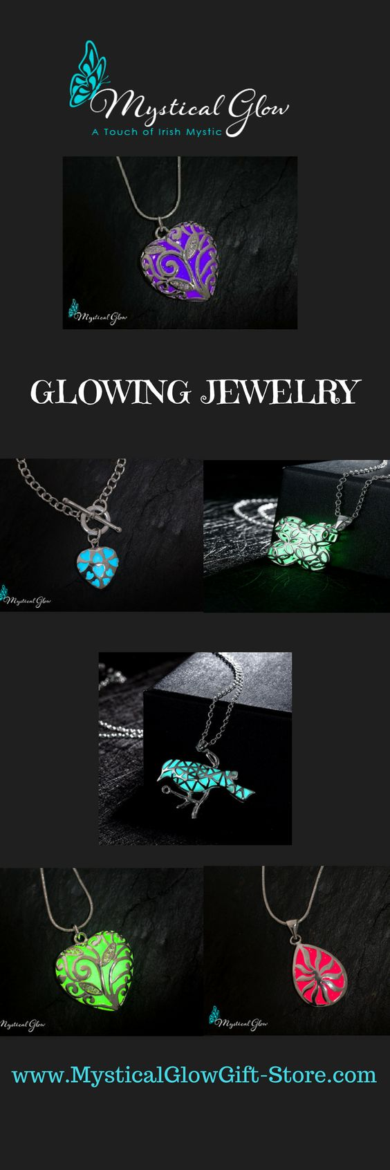 Glowing Jewelry, whats not to love?   More styles available at www.mysticalglowgiftstore.com #jewelry #jewellery #necklace #accessories #bracelet #ring #earrings #jewelrygram #silver #handmadejewelry #gold #jewels #rings #instajewelry #diamonds #bracelets #diamond #gemstone #jewelrydesigner #jewelrydesign #gems #fashionjewelry #pendant #boho #etsy #stylish #crystals #jewel #purse #bling