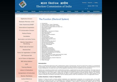 How the Electoral System operates? - Election Commission of India