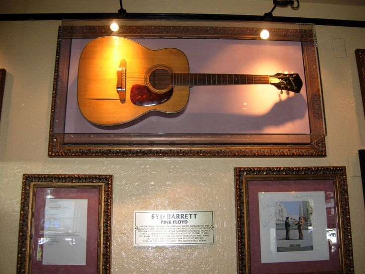 """Barrett Harmony Guitar This is a 1963 Harmony Sovereign acoustic guitar. It was Syd Barrett's first guitar. He used it while in his first band, the Tea Set and then with Pink Floyd to record """"Piper At The Gates Of Dawn"""", Pink Floyd's first album."""