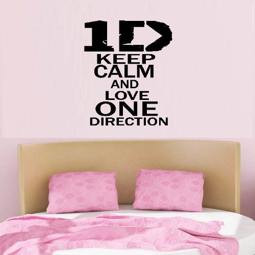 keep calm and love one direction one direction wall decal 13 x 18