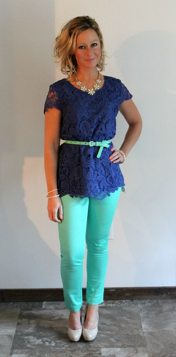 Stitch Fix Review  Roselin Lace Overlay Blouse