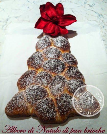 la casetta di cioccolato: Albero di Natale di pan brioche ripieno di nutella...