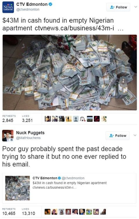 The Nigerian prince was real via /r/funny...