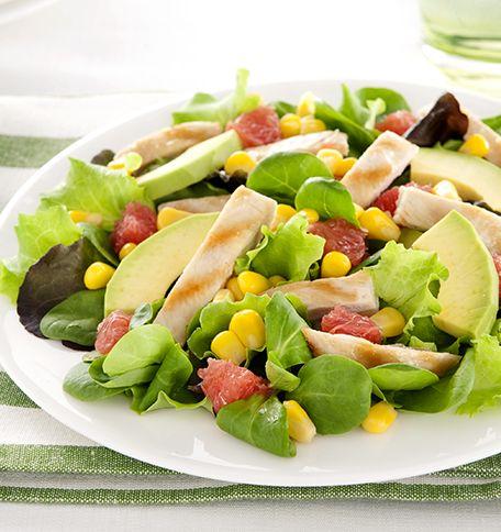 Bienvenue sur les tables estivales, découvrez cette #recette de #salade de mâche ici >> http://www.bonduelle.fr/recettes/salade-mais-avocats-et-pamplemousse #SurprenezVous et #regalez vous avec #Bonduelle #recettes #cuisine #food #recipes #cooking
