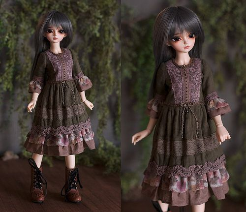 Minifee Gauze Dress - Dusky Pine color | This is a loose fit… | Flickr