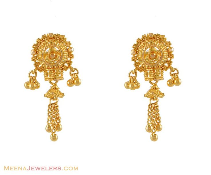 Indian Gold Jewelry Earrings