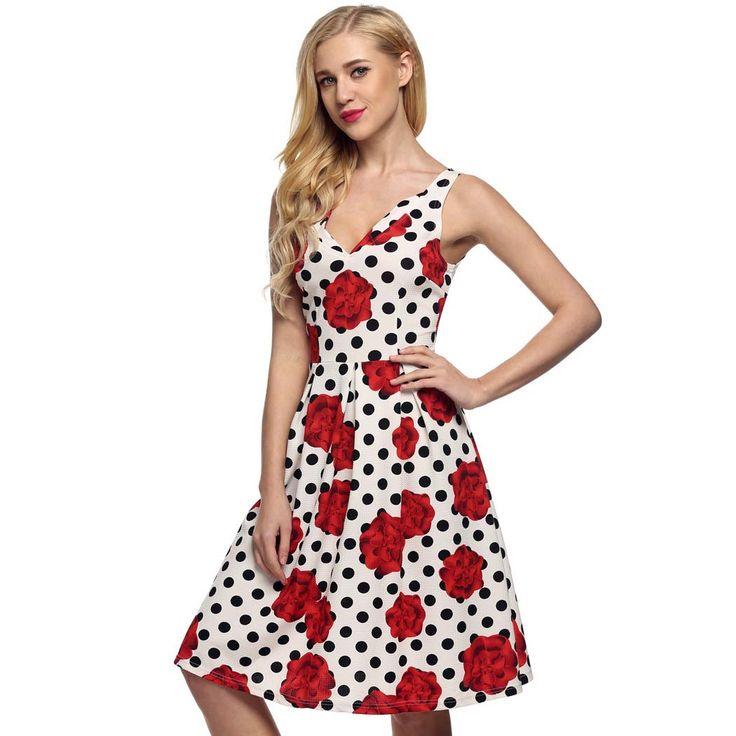 Sleeveless Backless Floral Pleated Dress, Flower print dress, knee-length dress, dress for girls and teens