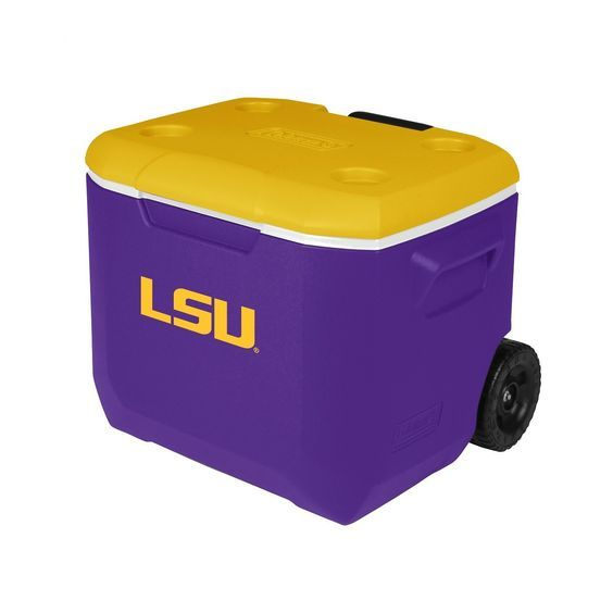 Coleman Company LSU Tigers - Louisiana State University Performance Cooler, 60 quart, Purple/Yellow * Review more details here : Camping stuff