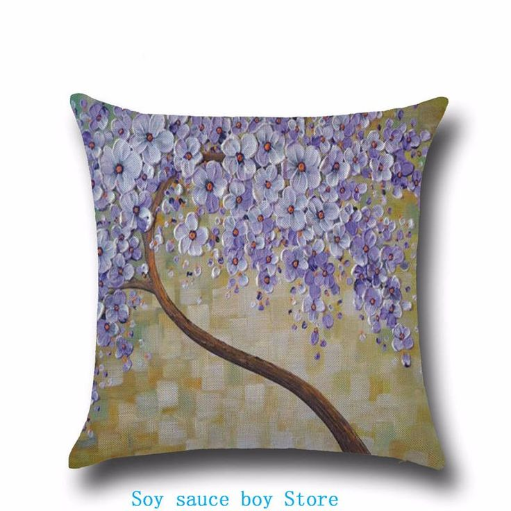 Health christmas Comfortable environment Halloween day Purple romantic flowers Pillow Case for baby Children