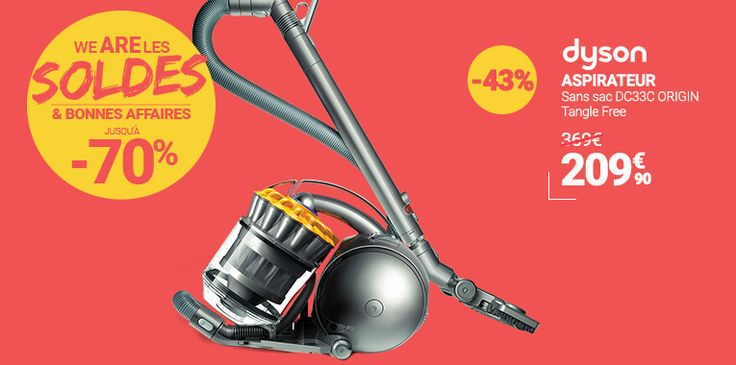 #AW  @rueducommerce  ➠ [ #SOLDES ] #WeAreLesSoldes ! #DYSON - #Aspirateur sans sac DC33C ORIGIN + Tangle Free ➠ http://tidd.ly/701c854f
