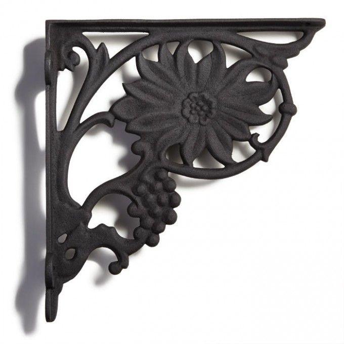 gerbera daisy cast iron shelf bracket