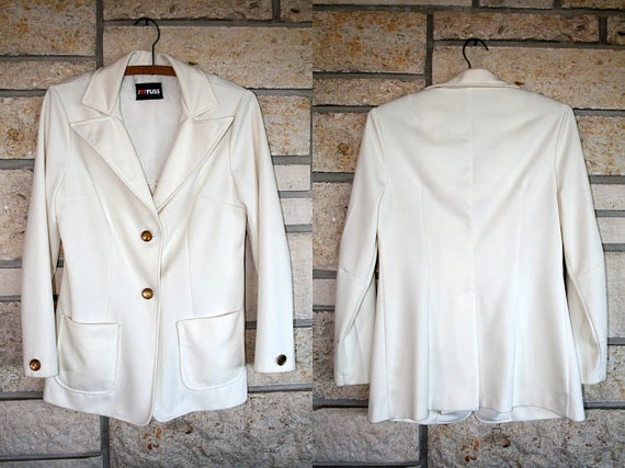Vintage1970s Vanilla Cream Jacket / Gold by TheHeirloomAddict, $28.00