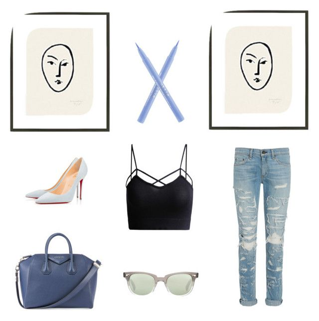 """""""Little art for the weekend"""" by weijin on Polyvore featuring Givenchy, 1000Museums, Stila, rag & bone, Oliver Peoples and Christian Louboutin"""