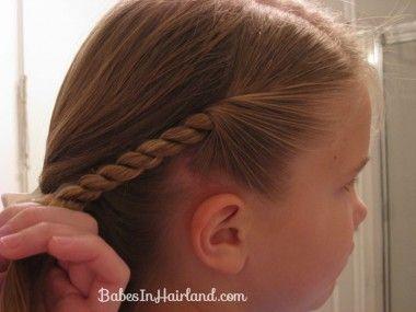 How to make a Rope/Twist Braid from BabesInHairland.com  #ropebraid #twist #video