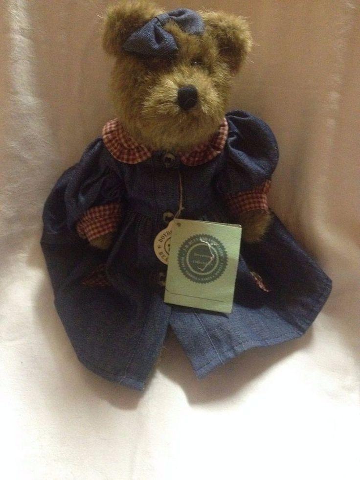 J.B. Bean Boyds Bears Denim Dress Bear with tags #Boyds