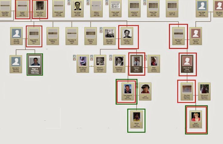 Généalogie a la Sälgö: Genealogists/ Släktforskare i släktträdet eller i närheten
